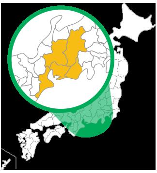 TOKAIのサービス対象エリア
